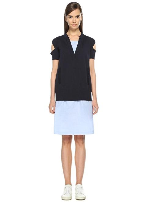 Semi Couture Elbise Lacivert